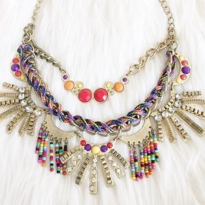 Jewelry - Funky Fringe Statement Necklace